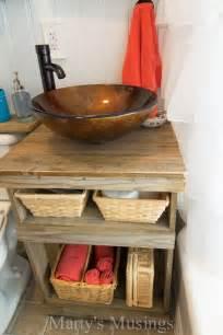 bathroom shelf idea repurposed wood projects