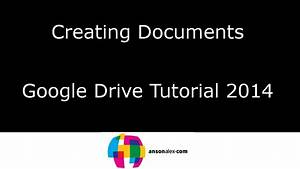 Creating documents in google drive tutorial 2014 youtube for Creating documents in google drive
