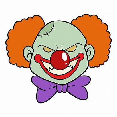 Clown Scary Draw Drawing Circus Easy Step