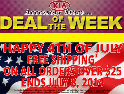 kiaaccessorystores deal   week