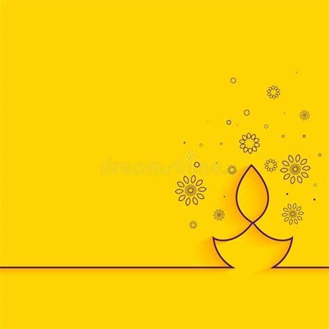 creative  diya  yellow background minimal diwali