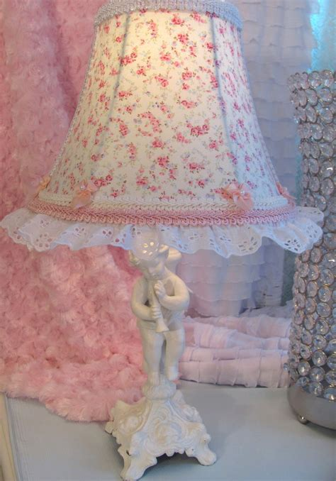 shabby chic l shades 7 quot lamp shade r ashwell blue pink roses shabby chic fabric