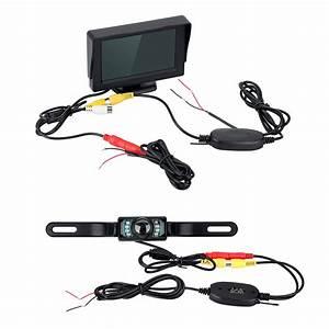 4 3 U0026quot  Tft   Lcd Monitor   Wireless Car Backup Camera Rear View System Night Vision