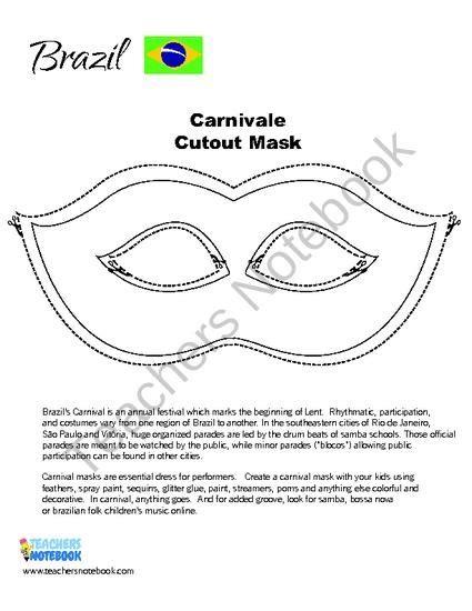 carnival masks template kids brazilian carnival mask template www imgkid the