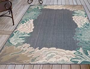 enchanted coral navy indoor outdoor rug 8 x 10