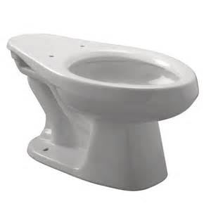 Zurn Elongated Toilet Bowl Only in White, White