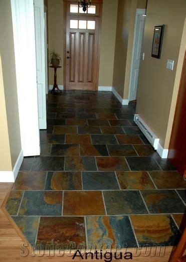 antigua rust slate hall floor tiles  canada
