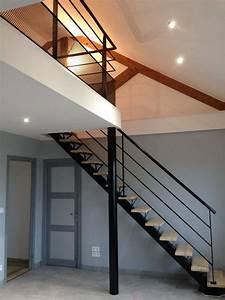 escalier poutre centrale mezzanine moderne escalier With deco maison avec poutre 14 escalier poutre centrale mezzanine moderne escalier