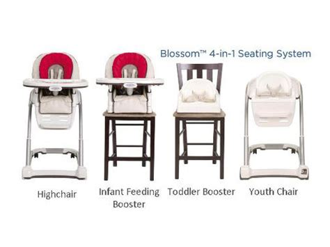 graco blossom 4 in 1 seating system the high chair that changes with your family