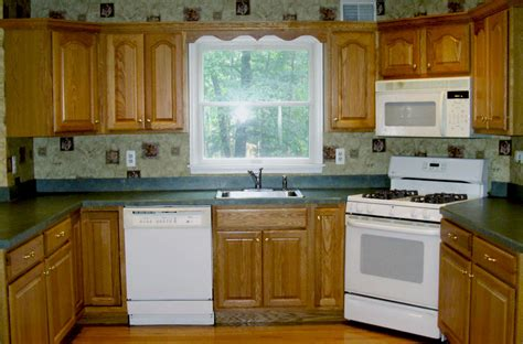 White Appliances With Oak Cabinets Quotes