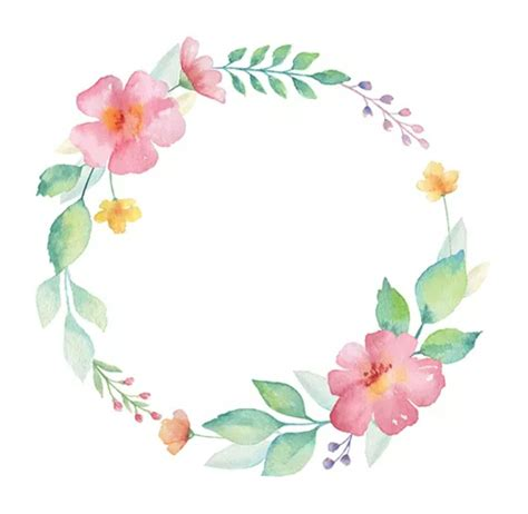 Floral watercolor wreath • Getty Images Circulo de