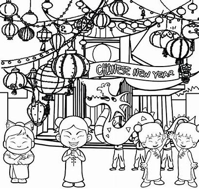 Chinese Coloring Pages Zodiac Printable Celebration Drawing