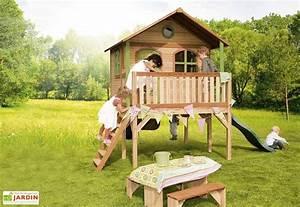 Cabane Exterieur Enfant : maison enfant bois sophie playhouse sophie axi ~ Melissatoandfro.com Idées de Décoration