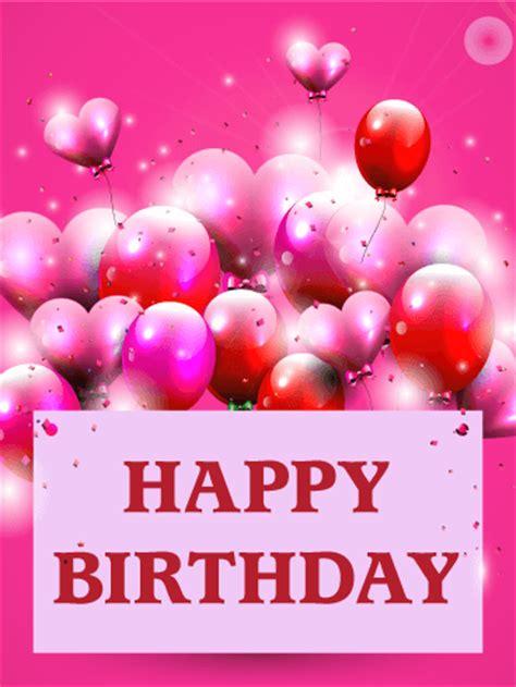 pink birthday balloon card birthday greeting cards