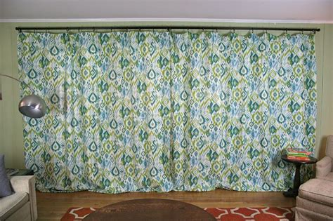 Blue Green Ikat Curtain Panels Sheer White Curtains For Nursery Ideas Kitchen Blinds Aluminium Chain Insect Door Fly Screen Curtain How To Add Horizontal Sew Two Shower Together Short Pole Uk 100 Linen Nz Liner Fabric