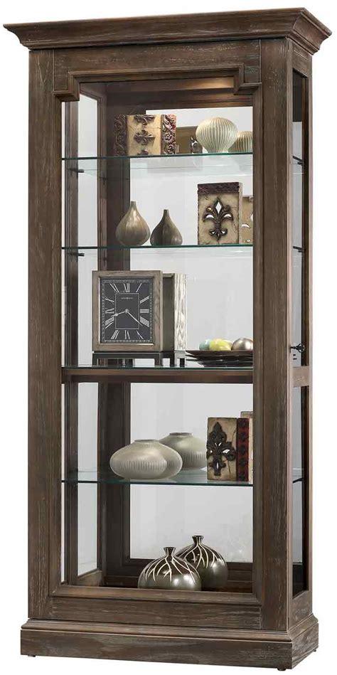 rustic curio cabinets howard miller caden ii 680 608 rustic finish curio cabinet