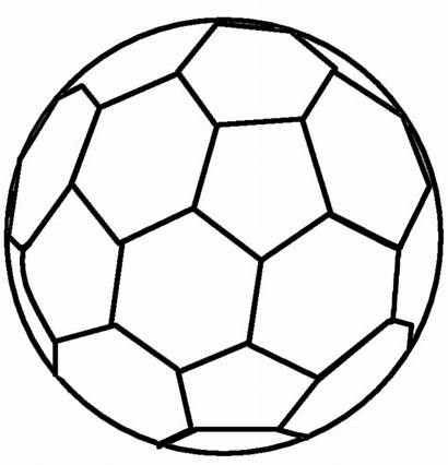 Line Drawing Football Ball Soccer Clipart Lineart