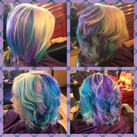 Pastel Boliage Pink Hair Purple Hair Violet Hair Teal