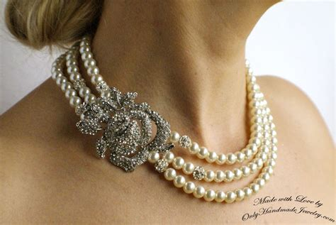 handmade bridal  wedding jewelry  vintage touch