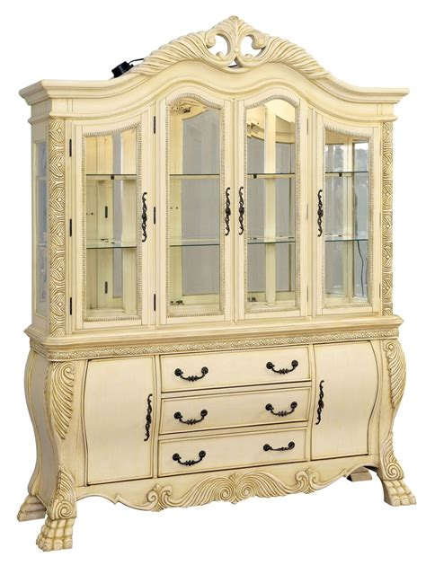 kitchen hutch cabinet wyndmere white china from furniture of america cm3186wh 1809