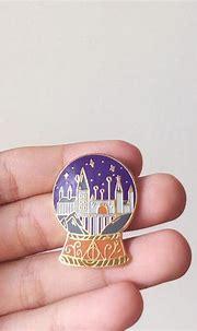 Hogwarts Snow Globe Harry Potter Enamel Pin – Choopl Designs
