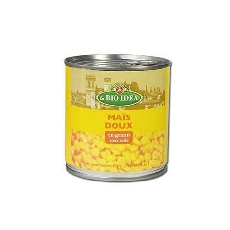 chien cuisiné maïs doux en grains sous vide 425 ml bio idea