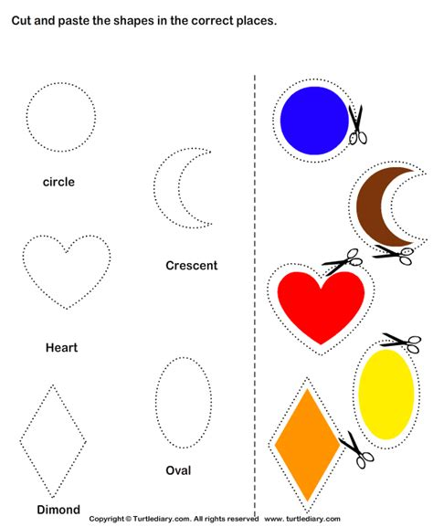 art and craft activities for kindergarten cut and paste shapes worksheets