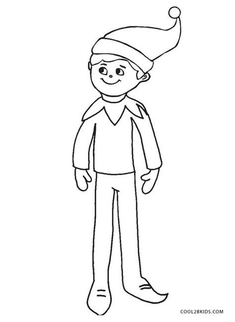 printable elf coloring pages  kids coolbkids