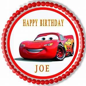 Disney Pixar Cars Lightning McQueen (1) - Edible Cake