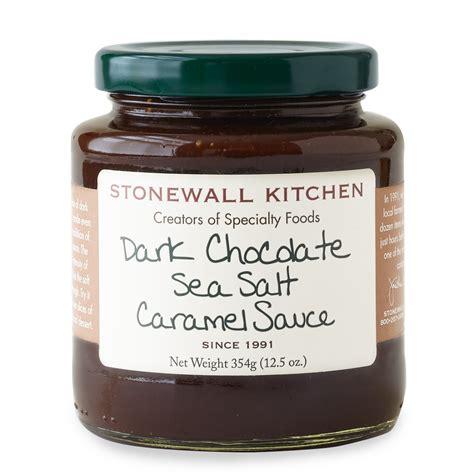 dark chocolate sea salt caramel sauce dessert sauces