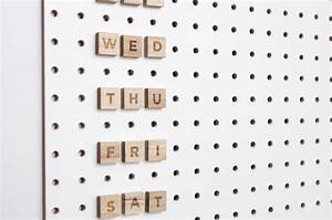 pegboard letters by block notonthehighstreetcom With peg letters