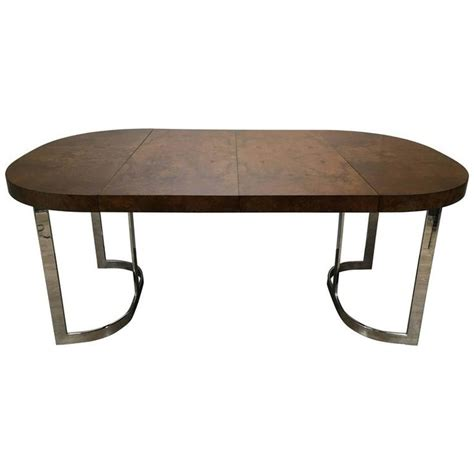 dining room sets stunning milo baughman burl wood dining table with chrome