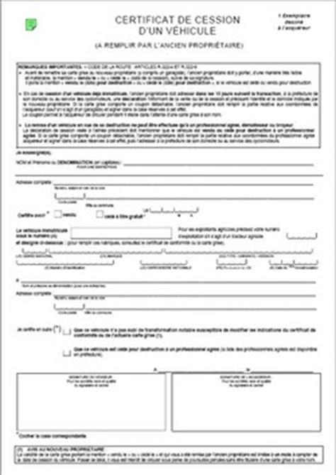 acte cession vehicule marubricabrac certificat de cession gratuit