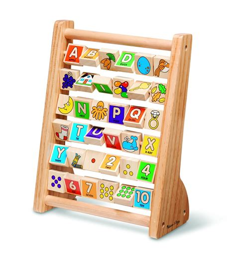 melissa doug abc  abacus classic wooden educational