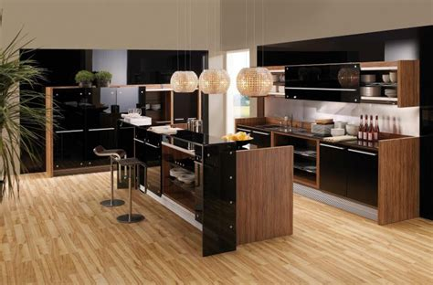 cuisine noir et bois cuisine et bois en 42 idées de design d 39 intérieur