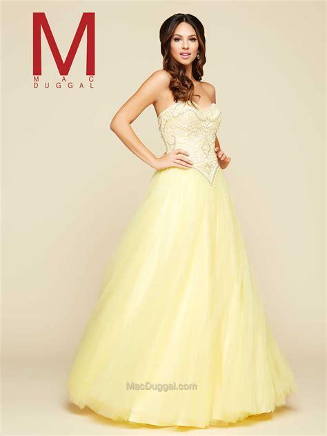 Prom 2016: Mac Duggal Style 40507- Lemon   Ball gowns ...