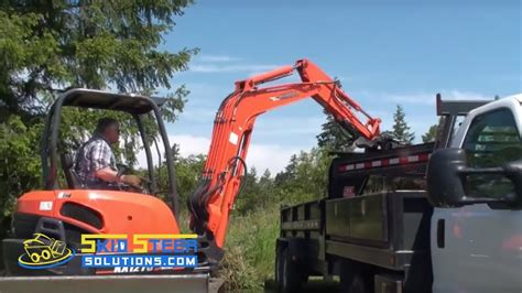 mini excavator grade blade attachment demo video youtube