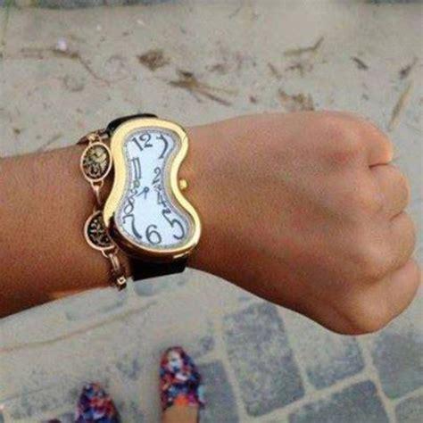 Salvador Dali Melting Time Melting Silver Gold Watch