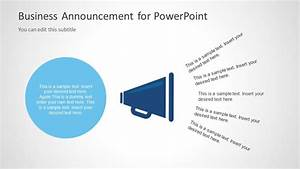 Business Announcement Template for PowerPoint - SlideModel