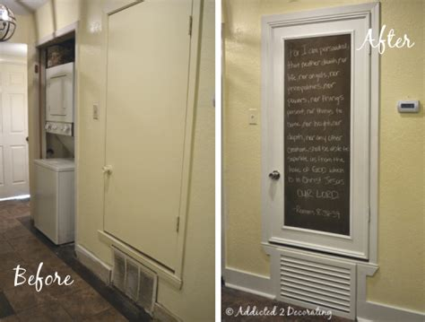 turn an hollow door into a pretty chalkboard