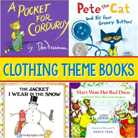 clothing theme books for preschool pre k pages 660 | Clothes Study for Preschool TSG