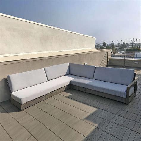 ventura deep seating teak sectional cushion iksun