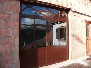 feu fer forgeporte d39atelier en profiles acier With porte d atelier en bois