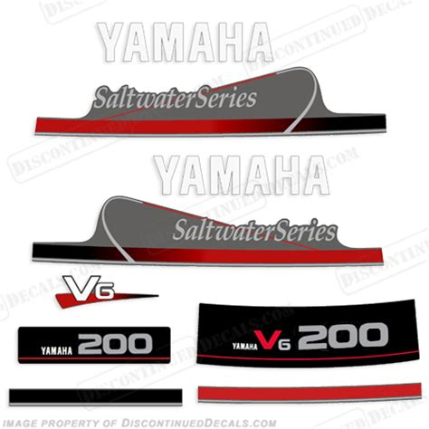 Yamaha Outboard Motor Decal Kit by Yamaha Outboard Motor Decal Kit 150hp 200hp V6 Mid 90s