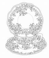 Coloring Tea Elegant Adult Colouring Sheets Printable Cup Birthday Issuu Flower sketch template