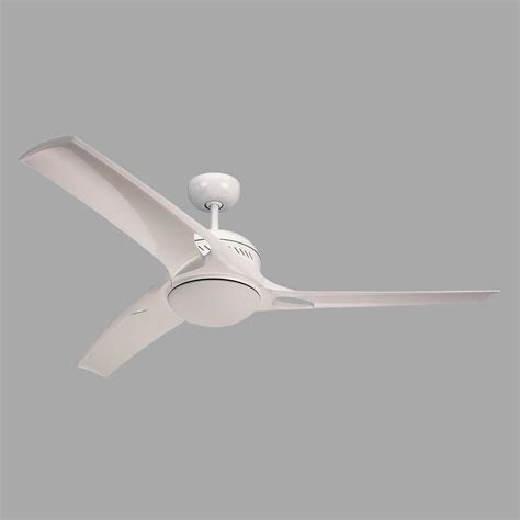 white 3 blade ceiling fan monte carlo mach one 52 in white ceiling fan with 3
