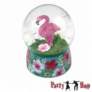 Deko 50er Party : glitterkugel flamingos exotische schneekugel hawaii tiki deko sommertrend geschenkidee ~ Sanjose-hotels-ca.com Haus und Dekorationen