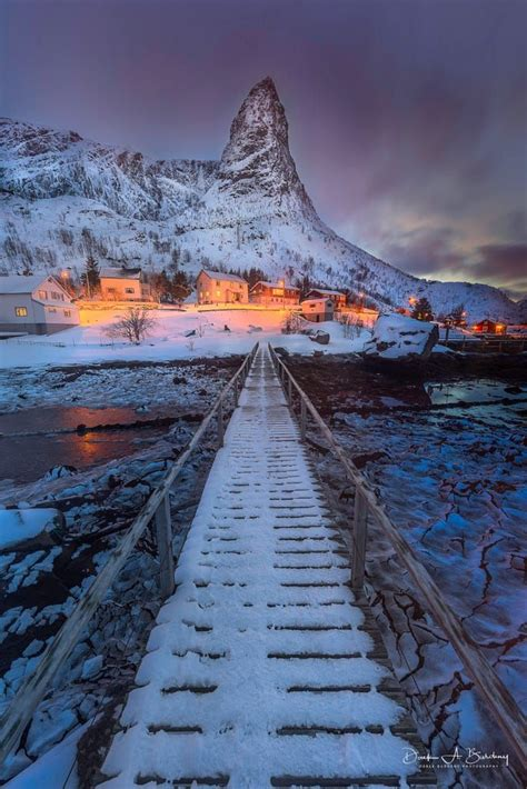 Bridge To Reine Lofoten Islands Norway By Derek Burdeny