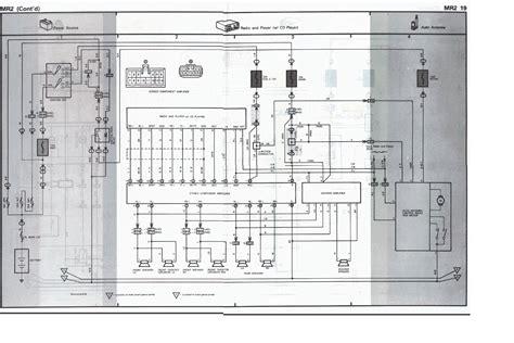 toyota mr2 radio wiring diagram free image