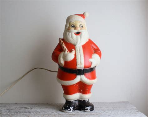 vintage light up blow mold santa claus by shavingkitvintage